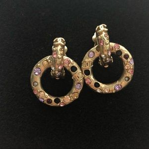 Vintage Chanel Clip On Hoop Earring